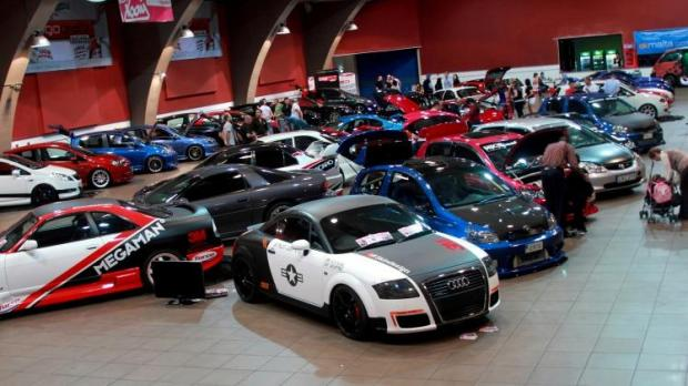 Show Of Modified Cars At The Arena - Fast and furious car show