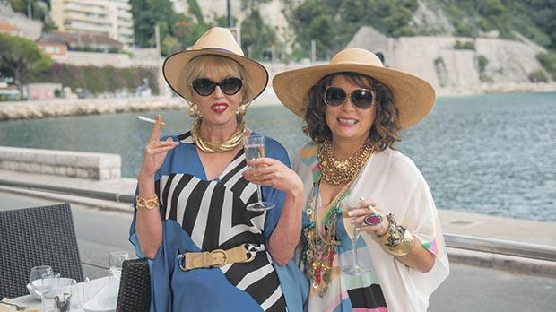 Joanna Lumley (left) and Jennifer Saunders won't let go of their glamorous lifestyle in Absolutely Fabulous: The Movie.