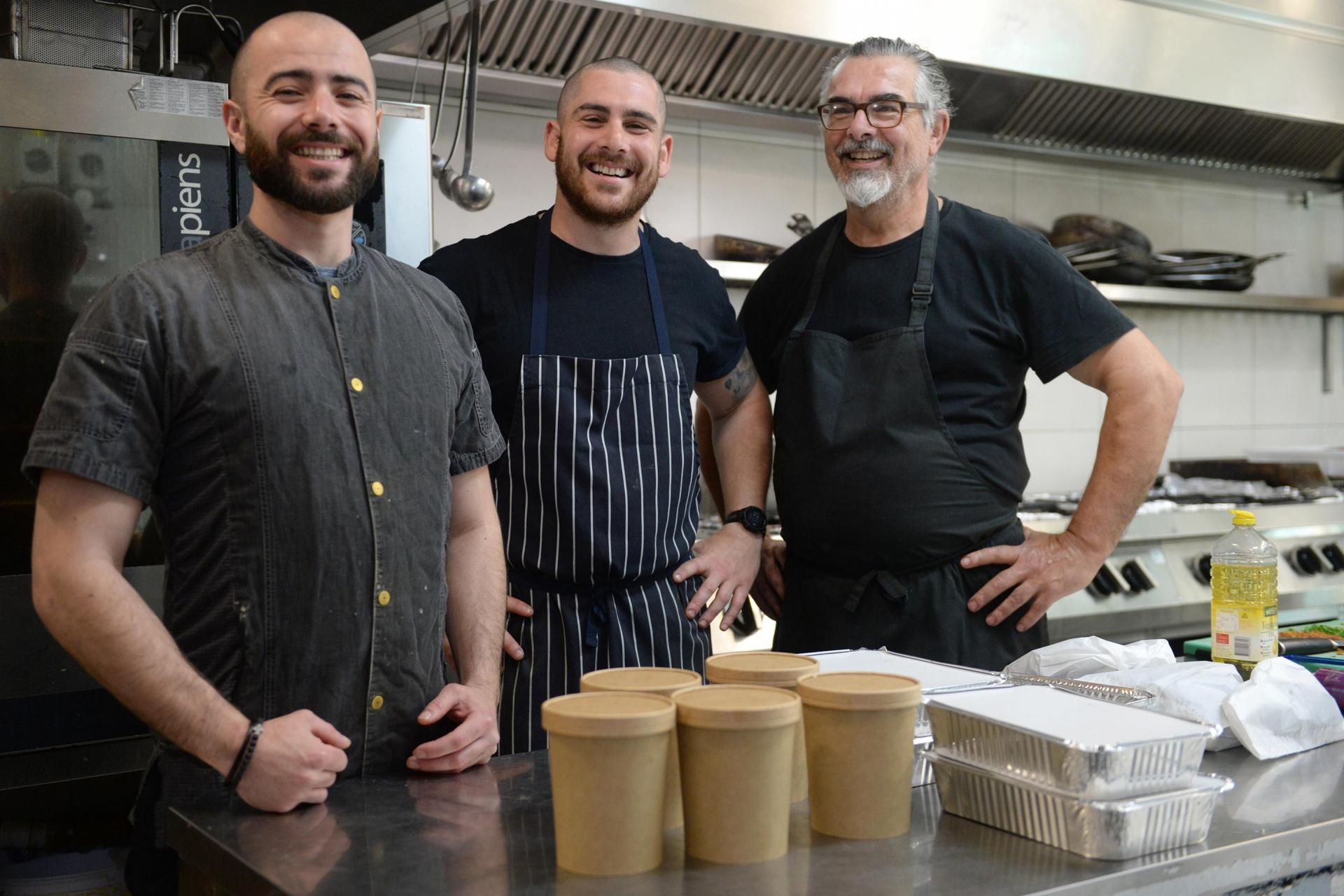 Zach Demarco, Rafel Sammut and Tony Farrugia. Photo: Matthew Mirabelli