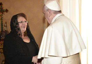 President has a papal audience, days before the end of her term