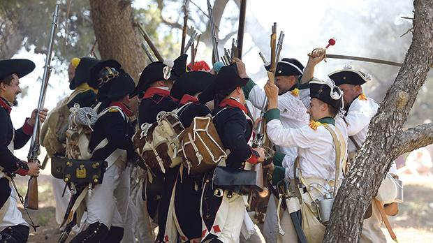 A military re-enactment last June marking the 220th anniversary of the French invasion of Malta. Photo: Mark Zammit Cordina
