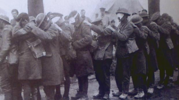 Soldiers blinded by German gas.