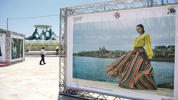 The Malta Fashion Awards were held against the backdrop of the Tritons Fountain. Photo: Jonathan Borg
