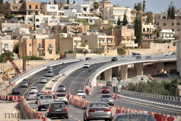 The Kappara flyover opens for traffic on both sides on September 17. Photo: Chris Sant Fournier