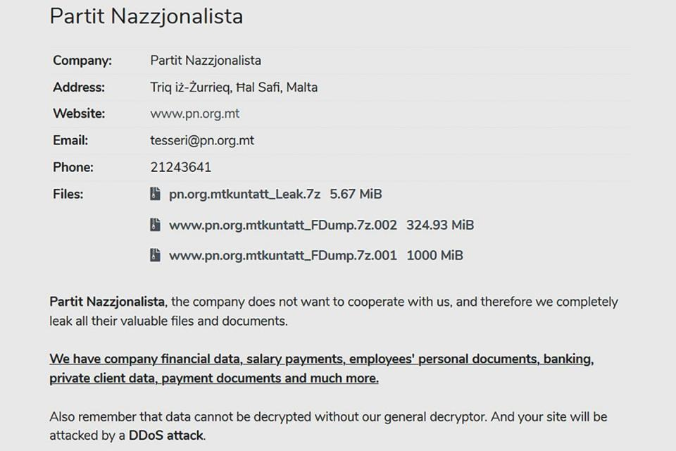 Hackers claim to have dumped 1.3 GiB of PN data on the dark web.