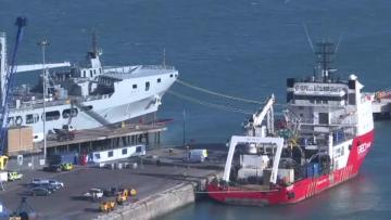 Watch: Boat carrying body from Sala plane wreckage docks in UK   Video: AFP
