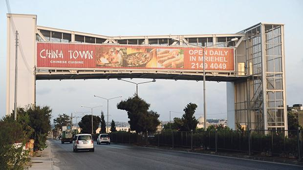 The bridge has proven to be a lucrative money-maker for the company that handles advertising on it. Photo: Jonathan Borg
