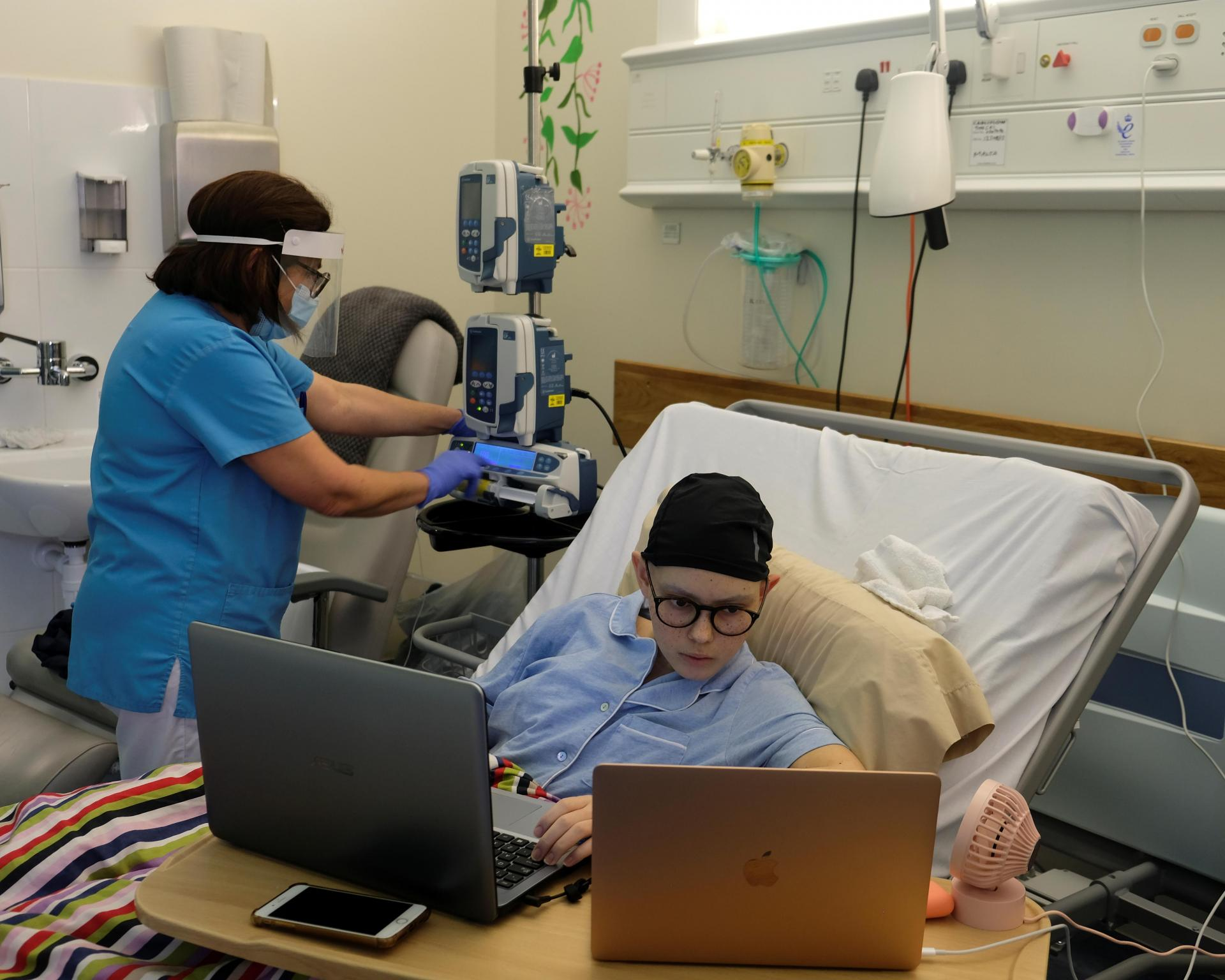 Rebecca Zammit Lupi at Mater Dei Hospital. Photo: Darrin Zammit Lupi
