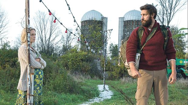 Emily Blunt and John Krasinski in A Quiet Place.