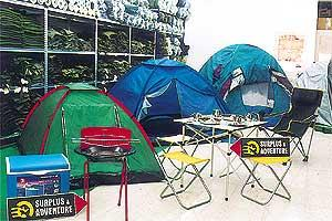 A Wide Range of products for outdoor and adventure activities at the Surplus and Adventure shop in Mosta