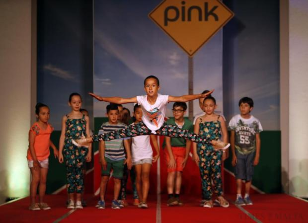 Children wearing F&F take part in the Pink Fashion Show, a Times of Malta event, at Savio College in Dingli on May 29. Photo: Darrin Zammit Lupi