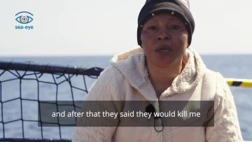 Watch: 'In Libya, they sell human beings. They have sold me twice'    A rescued woman recounts her memories of Libya. Video: Sea-Eye