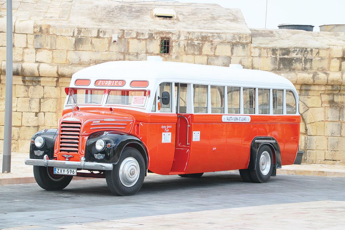 Orange was used for the old buses on the Żurrieq route.