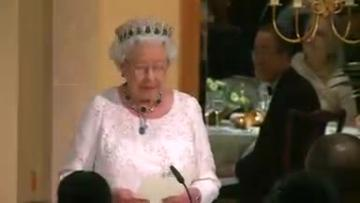 """Queen jokes with Canada's PM for """"making me feel so old"""""""