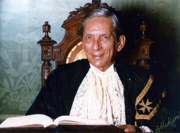 Judge Maurice Caruana Curran. Photo courtesy of Raymond Mangion