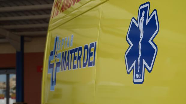 The man was rushed to Mater Dei hospital.