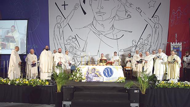 Mass was concelebrated by over 15 priests and led by Archbishop Charles Scicluna.