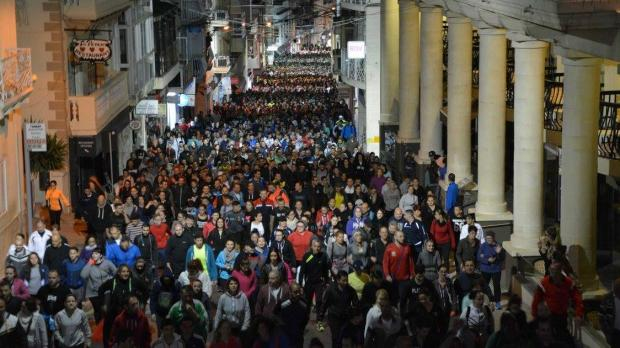 People walk during a previous edition of the pilgrimage. Photo: Facebook/Mixja l-Gimgħa l-Kbira