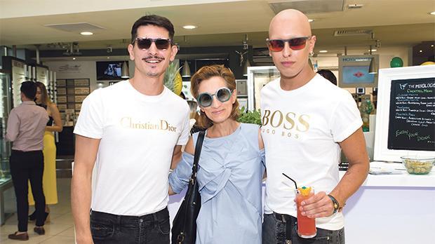 Models with Fiona Galea Debono.