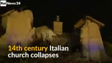 Watch: Italy quake church collapse caught on camera