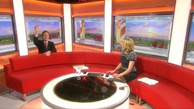 presenter loses new pound coin down back of bbc breakfast sofa