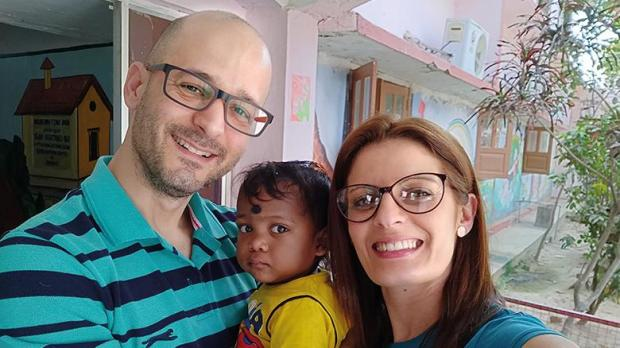 Dave Anastasi and Fiona meet their daughter in the Indian orphanage.