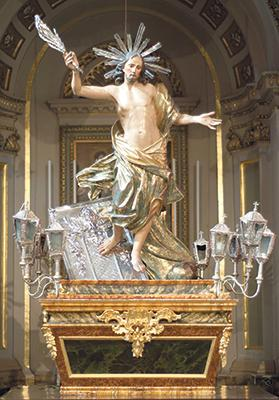 The 18th century statue of the Risen Christ. Photo courtesy of John Cassar