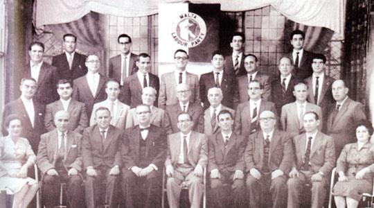 The Labour executive interdicted in 1961. Photos courtesy of L-Istorja tal-Partit Laburista.