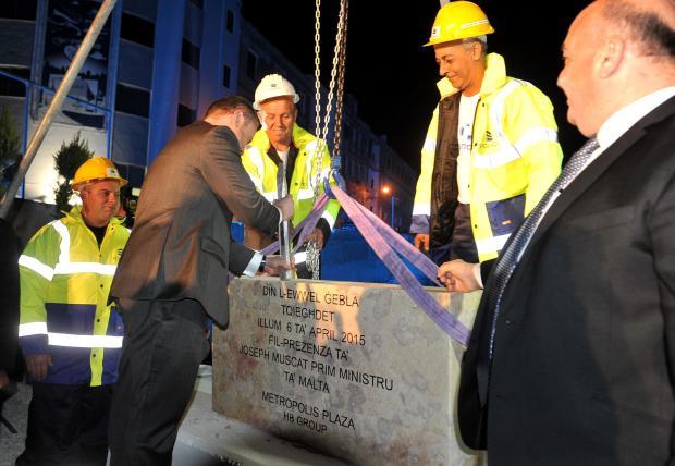 Foundation Stone Of The Metropolis Plaza In Gzira Laid
