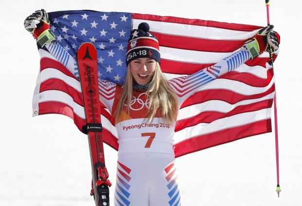 Mikaela Shiffrin took the gold medal in the women's giant slalom.