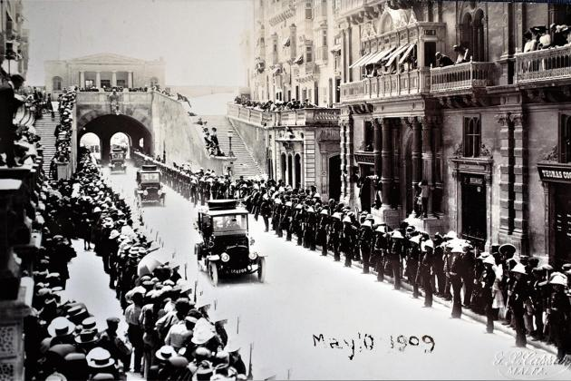 Kaiser Wilhelm entering Valletta in 1909. Photos: Giovanni Bonello Collection