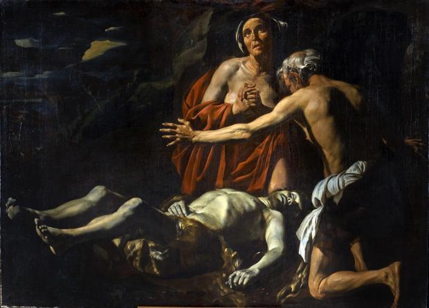 Lamentation over the dead Abel.