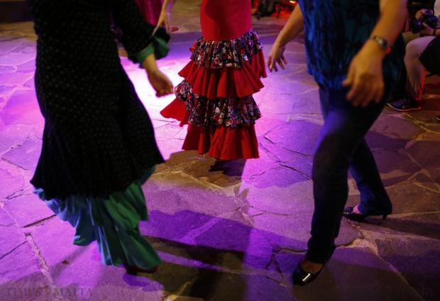 Flamenco dancers are joined by a spectator at the Lower Barrakka during Notte Bianca (White Night) celebrations in Valletta on October 3. Photo: Darrin Zammit Lupi