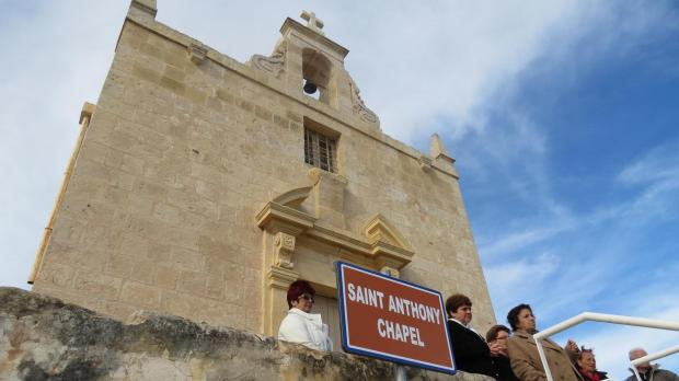 Mass was held at the restored Sant'Antnin chapel before the park was inaugurated.