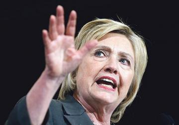 Former US secretary of state and current presidential candidate Hillary Clinton. Photo: Jason Miczek/Reuters