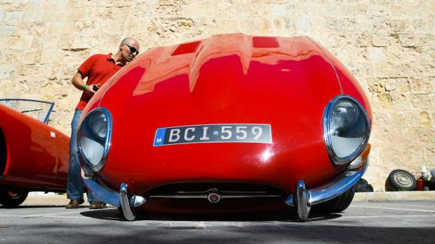 A man checks out one of the cars on display at the Mdina Grand Prix on October 7 Photo: Jonathan Borg