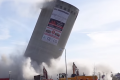 Silo demolition goes awry in Denmark - building falls the wrong way