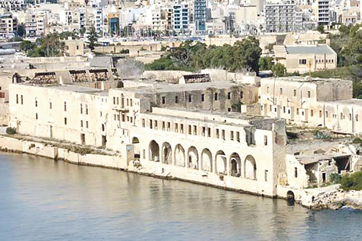 Lazzaretto Hospital at Manoel Island, now in a dilapidated state.