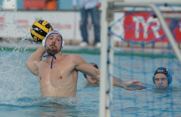 Malta's Steve Camilleri takes a penalty during their European Water Polo Championship play-off match against Belarus at the National Pool in Tal Qroqq on March 3. Photo: Matthew Mirabelli