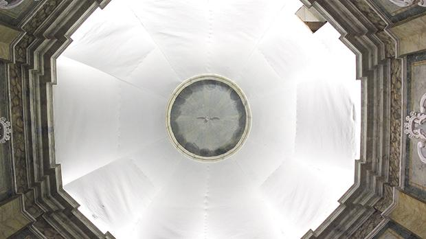 The dome before the conservation and restoration works started. Photo: Amy Sciberras ­– Restoration and Conservation of Fine Arts