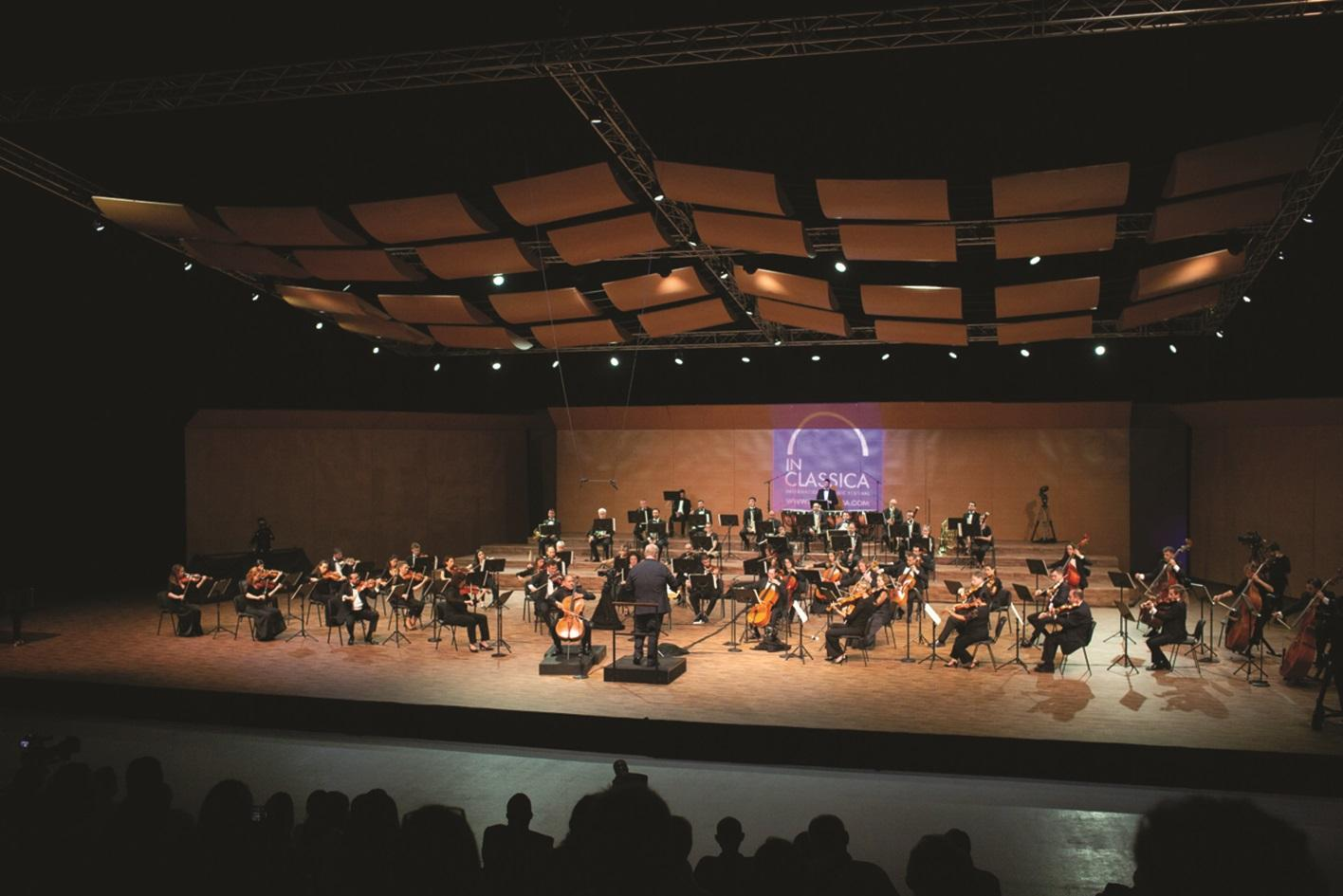 Malta's national orchestra in concert at the Coca-Cola Arena in Dubai. Photo: Evgeny Evtyukhov