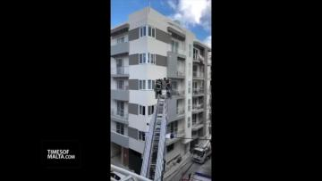 Watch:  Fire put out after three evacuated in Msida | Video: Gladin Raj Powathil/ Matthew Mirabelli