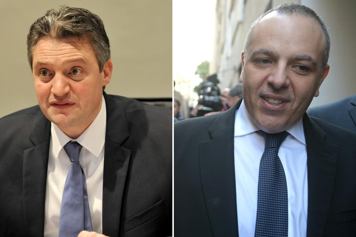 Keith Schembri, right, and Konrad Mizzi, left, both had secret companies revealed by Daphne Caruana Galizia in 2016.