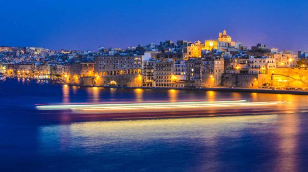 Valletta harbour by night. Photo: Mark Borg