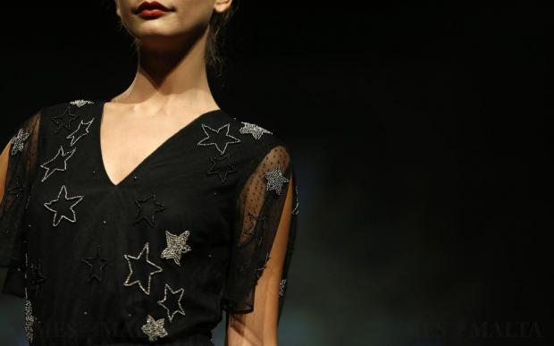 A model presents a creation by River Island during the Pink Fashion Show at the Manoel Theatre in Valletta on November 15. Photo: Darrin Zammit Lupi