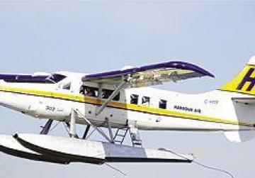The last air link was provided by a sea plane.