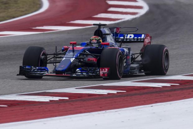 Toro Rosso driver Brendon Hartley (39) of New Zealand during practice for the United States Grand Prix at Circuit of the Americas.
