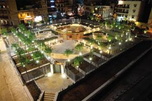 An overhead view of the Spinola Palace garden and some angles of it taken by night and by day (Photos: DOI)