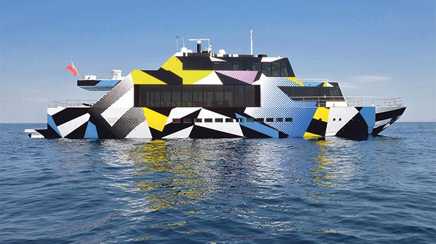 Flouting convention has been Dakis Joannou's passion since he embarked on his artistic odyssey in the 1960s. Nowhere is this more visible than in his private yacht Guilty launched in 2008. Joannou invited American pop artist Jeff Koons to design the yacht's exterior finish. Photo: F. Vlastaras/R. Konstantopoulou