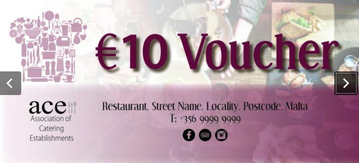 A mock voucher published by ACE. The lobby group says vouchers will actually be for €15.
